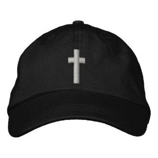 Casquette brodé par croix chrétienne