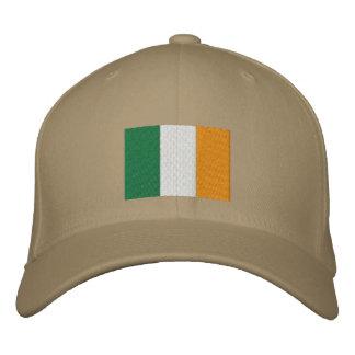 Casquette brodé par drapeau irlandais
