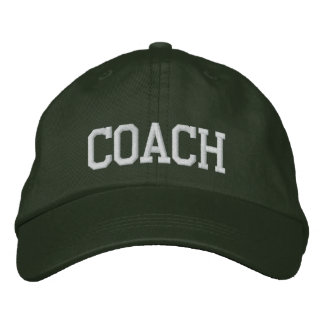 Casquette brodé par entraîneur