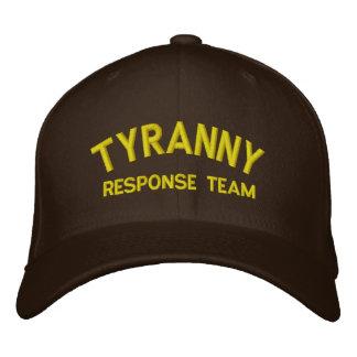 Casquette brodé par équipe de réponse de tyrannie