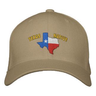 Casquette brodé par indigène du Texas