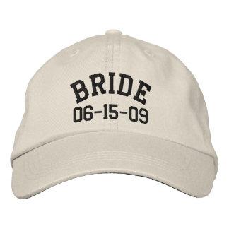 Casquette brodé par jeune mariée personnalisé casquette brodée