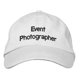 Casquette brodé par photographe d'événement casquette brodée