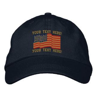 Casquette brodé par rayures de n personnalisez des chapeaux brodés