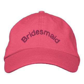Casquette brodé par rose de demoiselle d'honneur casquette brodée