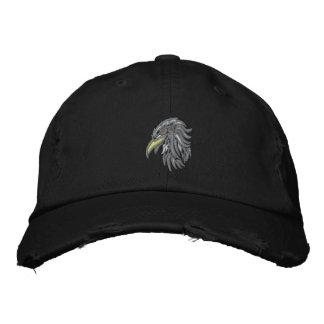 Casquette Brodée aigle chauve tribal