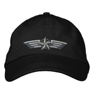 Casquette Brodée Ailes de pilote d'insigne d'étoile brodées par