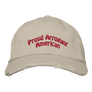 Casquette Brodée Américain arrogant fier