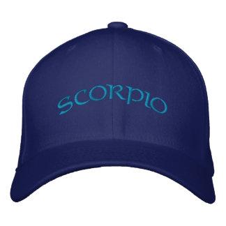 Casquette Brodée Bleu de zodiaque de Scorpion/casquette d'Aqua