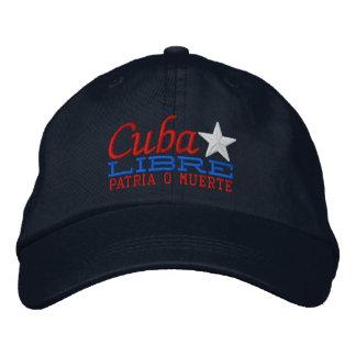 Casquette Brodée Broderie de devise du Cuba Libre