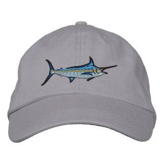 Casquette Brodée Broderie de Marlin bleu de pêche sportive