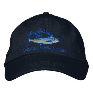 Casquette Brodée Broderie personnalisée de Marlin bleu de pêche