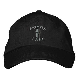 Casquette Brodée Broderie spartiate de casque de Molon Labe