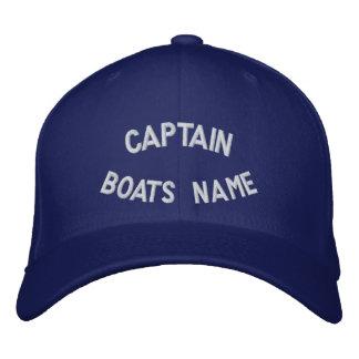 Casquette Brodée Capitaine avec votre nom de bateaux