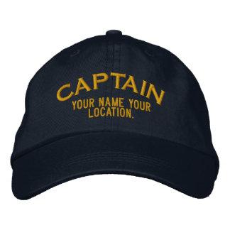 Casquette Brodée Capitaine de la marine marchande personnalisé