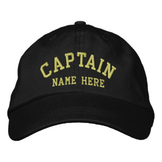 Casquette Brodée Capitaine - marin personnalisable