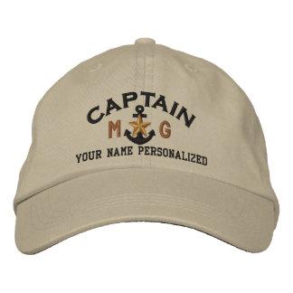 Casquette Brodée Capitaine personnalisé Nautical Star Anchor