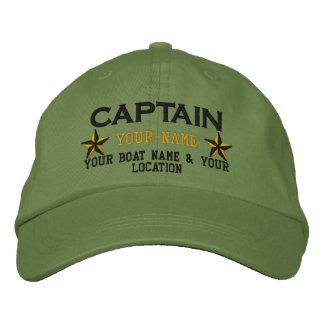 Casquette Brodée Capitaine personnalisé Stars Ball Cap Embroidery