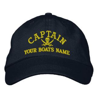 Casquette Brodée Capitaines personnalisés de navigation de pirate