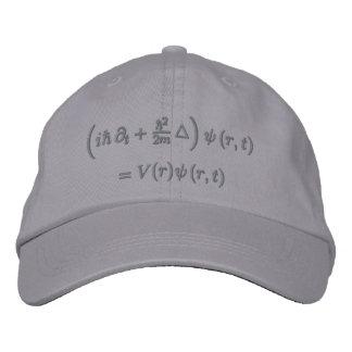 Casquette Brodée Casquette, équation de Schrodinger, gris-foncé