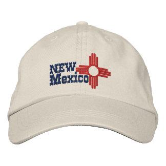 Casquette Brodée Conception de drapeau d'état du Nouveau Mexique