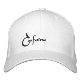Casquette Brodée Confusione a adapté le casquette, copie de noir,