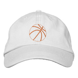 Casquette Brodée Contour de basket-ball