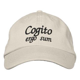 Casquette Brodée De Cogito somme donc que je pense que donc je suis