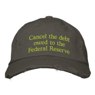Casquette Brodée Décommandez la dette due à Federal Reserve