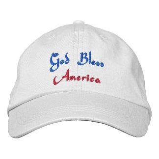 Casquette Brodée Dieu bénissent l'Amérique