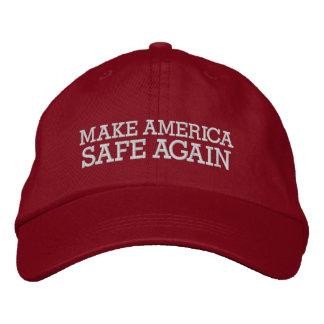 Casquette Brodée Donald Trump - faites le coffre-fort de l'Amérique