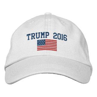 Casquette Brodée Donald Trump - président 2016 avec le drapeau