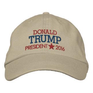 Casquette Brodée Donald Trump - président 2016 avec l'étoile