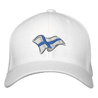 Casquette Brodée Drapeau de drapeau de la Finlande Suomi pour des