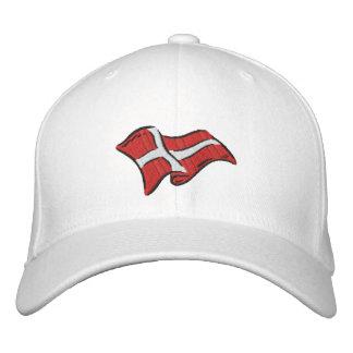 Casquette Brodée Drapeau du Danemark de drapeau du Danemark Dansk