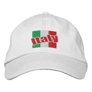 Casquette Brodée Drapeau italien de l'Italie avec le texte