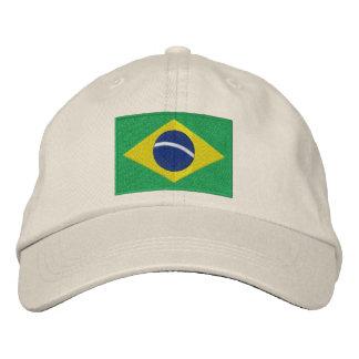 Casquette Brodée Drapeau national du Brésil en vert, jaune et bleu