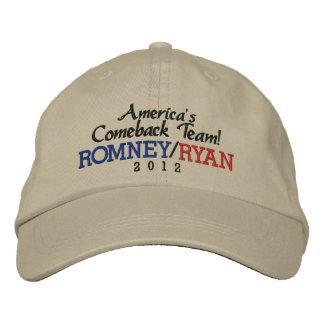 Casquette Brodée Équipe Romney du retour de l'Amérique/casquette de