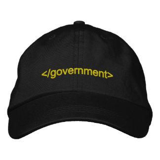 Casquette Brodée Étiquette d'extrémité de gouvernement