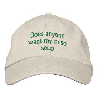 Casquette Brodée fait n'importe qui veulent ma soupe miso