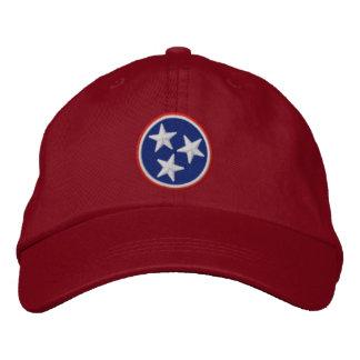 Casquette Brodée Graphique dynamique de drapeau d'état du Tennessee