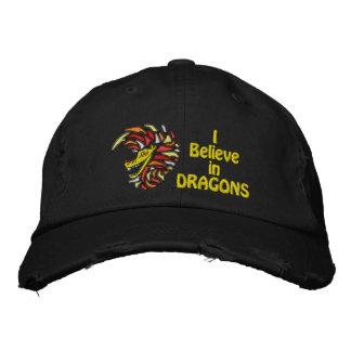 Casquette Brodée Je crois aux dragons