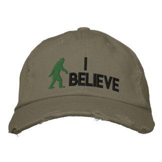 """Casquette Brodée Je crois le logo de Bigfoot de *large """""""
