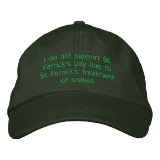 Casquette Brodée Je ne soutiens pas le jour de St Patrick dû à St