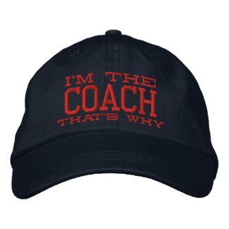 Casquette Brodée Je suis l'entraîneur qui est pourquoi
