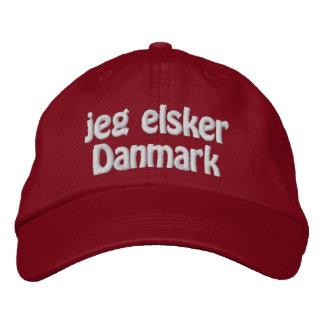 Casquette Brodée Jeg Elsker Danmark