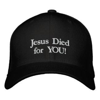 Casquette Brodée Jésus est mort pour vous !