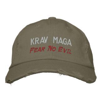 Casquette Brodée Krav Maga, ne craignent aucun mal