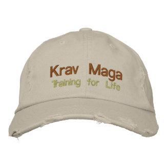 Casquette Brodée Krav Maga, s'exerçant pendant la vie