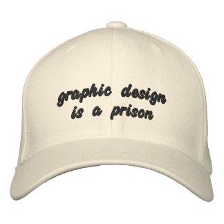 Casquette Brodée la conception graphique est une prison